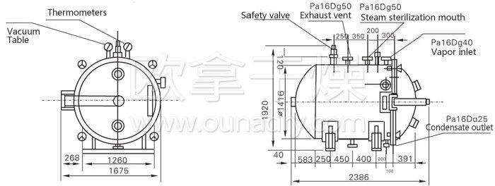 Round Static Vacuum Dryer